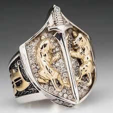 custom rings for men proclamation jewelry custom made mens diamond lion shield ring