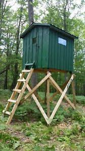 Deer Blind Elevators 4pc Extra Heavy Duty Welded Deer Elevator Brackets Tree Stand Ebay