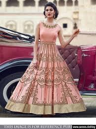 peach colour gown type salwar
