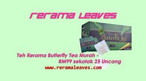 Teh Rerama butterfly tea teh rerama