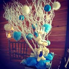 turning a wedding centerpiece into a xmas decoration feathers in