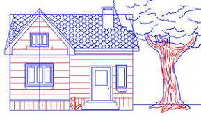 how to draw plans for a house how to draw a house step by step buildings landmarks places