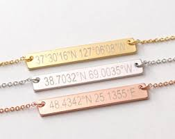 engraving necklaces engraved necklace etsy