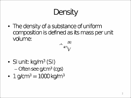 chapter 9 phys1420 fall 2014 ch 9 2 density and pressure 1