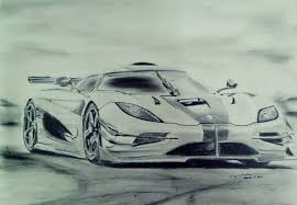 semi realistic sketch no 10 koenigsegg the one by cage0015 on