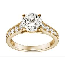 engagement rings yellow gold cartier solitaire 1895 diamond engagement ring in yellow gold set