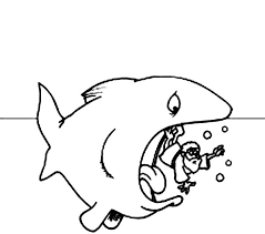 jonah coloring page jonah in the sea with a whale in jonah and the whale coloring page