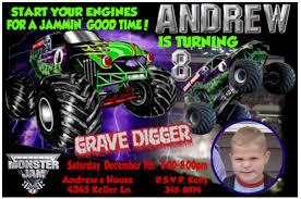 grave digger monster truck party supplies grave digger camión invitaciones fiesta de cumpleaños monster jam
