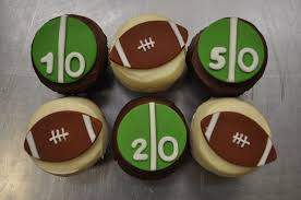 football cupcakes football and mickey blue cupcake
