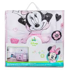 Baby Minnie Mouse Crib Bedding Set 5 Pieces minnie mouse hello gorgeous crib bedding set shopdisney
