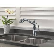 kitchen faucets delta delta cassidy single handle pullout kitchen faucet