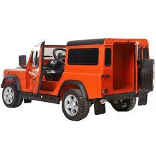 jeep orange land rover defender electric ride on car orange