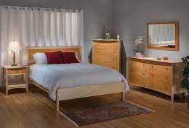 traditional solid maple cherry natural queen low sleigh bed