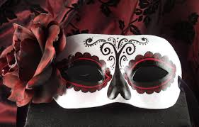 zip mask halloween tradition mask for day of the dead dia de los
