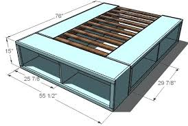 Diy Bed Frame With Storage Diy Bed With Storage Plans Captains Bed Plans How To