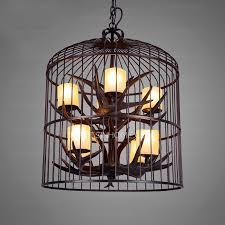 Metal Antler Chandelier Vintage 8 Light Birdcage Shaped Outdoor Antler Chandelier