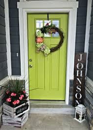 my green front door lime green decor green front