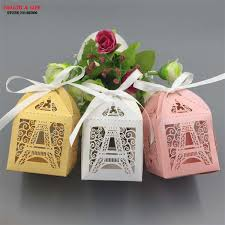 eiffel tower favors 50pcs christmas eiffel tower paper wedding candy box party