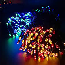 aliexpress com buy high quality 100 led outdoor solar led string