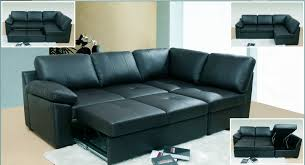 Leather Sofa Beds With Storage Deluxe Faux Leather Corner Sofa Bed Storage With Ottoman