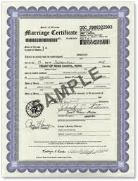 where is my marriage certificate finances and credits assistant