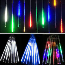 meteor shower falling drop icicle snow led string lights