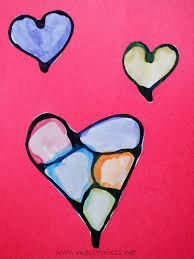 valentine u0027s day craft hearts with black glue mess for less