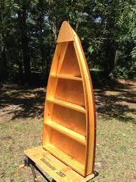 Canoe Bookcase Furniture Canoe Shelf Solid Cedar Boat Shelf 3 1 2ft Display Boat Shelves