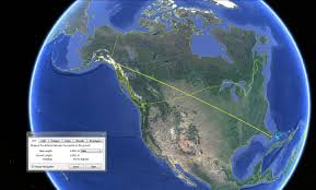 Distance Between Two Points Map You Can Theoretically Drive In A Straight Line From Anchorage To