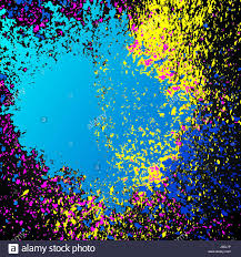 colorful acrylic explosion paint splatter vector small drops