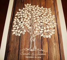 tree signing for wedding guest book tree wood wedding tree guestbook wedding tree poster