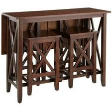 Drop Leaf Pub Table Unique Dining Table With Attached Stool Type Seating Item