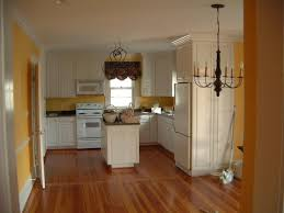 yellow painted u shaped kitchen design u2014 all home design ideas