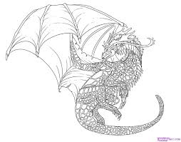 how to draw a cool dragon step by step dragons draw a dragon