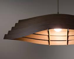 Wood Veneer Pendant Light Wooden Boat Pendant Light 33 Ash Veneer