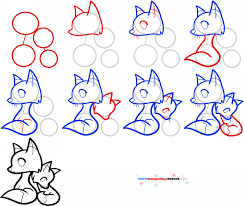 how to draw a fox for kids how to draw animals for kids