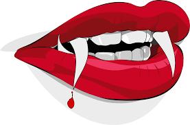 free animated halloween clipart bloody vampire lips free halloween vector clipart illustration