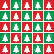 abstract christmas tree seamless pattern background vector