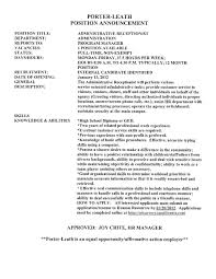 Resume Example For Receptionist by Gym Receptionist Resume Personal Care Resume Example