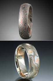 japanese wedding ring using japanese swordmaking techniques to create metal with wood