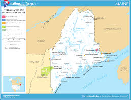 Usa Map With Abbreviations by Map Of Maine Map Federal Lands And Indian Reservations