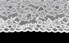 white lace white patterned lace isolated on black background stock photo