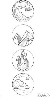 4 element symbols water earth and air idea no 1