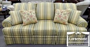 Clayton Marcus Sofa by Clayton Marcus Green Striped Upholstered Sofa Baltimore