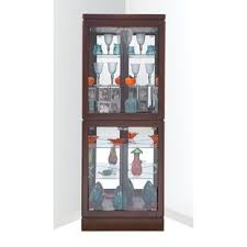 curio cabinet with light corner display cabinets you ll love wayfair