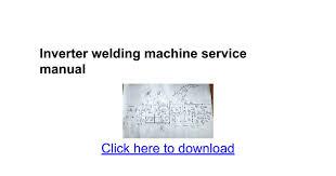 inverter welding machine service manual google docs
