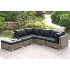 Outdoor Sofa With Chaise Outdoor Patio Sectional Sofas U0026 Loveseats Wayfair