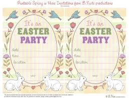 bnute productions free printable spring is here easter invitations