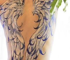 full wings tattoo design for women on back tattoos wing back