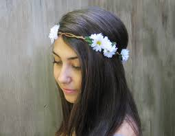 hippy headband headband edc crown daisies flower crown